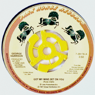 "George Harrison ‎- Got My Mind Set On You (7"") (VG+/NM)"